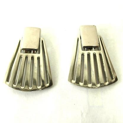 Vintage Fan Clip Earrings