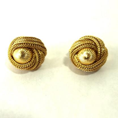 Vintage Clip Earrings - rope design