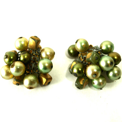 Vintage Clip Earrings. Japan.