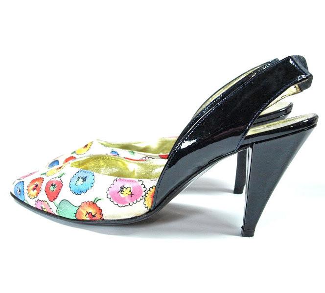 515be69025203 DESIGNER ESCADA Floral Shoes