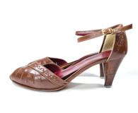 1970s PeepToe Shoe