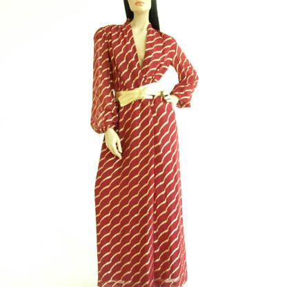 1970s Evening Maxi Dress