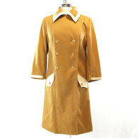 Mod Gold Trench Coat
