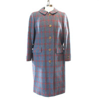 1960s Window Pane Check Coat
