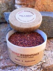 Pore Essentials™ - Heal & Hydrate - face & skin scrub (retail product image) by go lb. salt ® - store.golbsalt.com