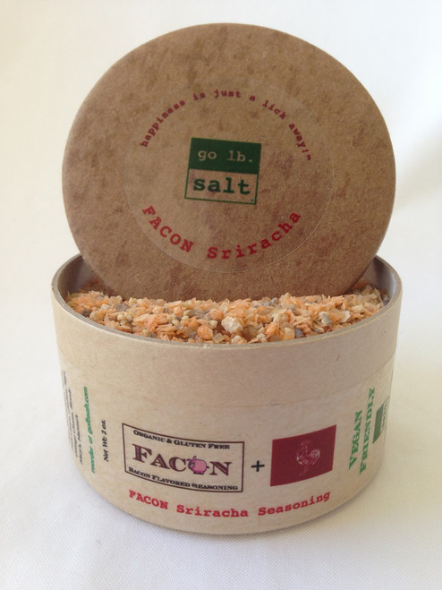 FACON™ Sriracha Seasoning - The Original Bacon Flavored Sriracha Seasoning! (retail product image) by go lb. salt ® - store.golbsalt.com