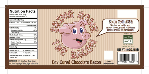 Bring Home The Bacon - Dry Cured Chocolate Bacon by go lb. salt ® - store.golbsalt.com