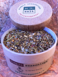 simple seasonings™ - southwest spicy - all natural, herb & spice blend (retail product image - open) by go lb. salt ® - store.golbsalt.com