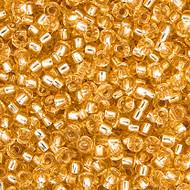 Miyuki Round Seed Bead Size 11/0  Light Gold Silver Lined SB 0002