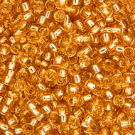 Miyuki Round Seed Bead Size 11/0 Gold Silver Lined SB 0003