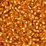 Miyuki Round Seed Bead Size 11/0 Dark Gold Silver Lined SB 0004