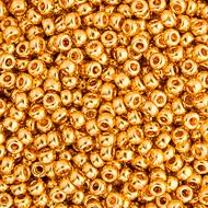 Miyuki Round Seed Bead Size 11/0 24 Carat Gold Plated SB 0191