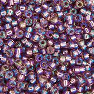 Miyuki Round Seed Bead Size 11/0 Smoky Amethyst Silver Lined AB SB 1012