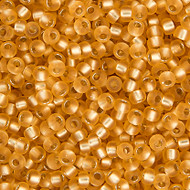 Miyuki Round Seed Bead Size 11/0 Gold Silver Lined Semi-Frosted SB 1902