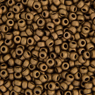 Miyuki Round Seed Bead Size 11/0 Dark Bronze Matte Metallic SB 2006