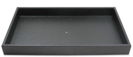 Plastic Stackable Tray Black 1""