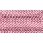 Griffin Silk Thread Dark Pink Size 4 0.60mm 2 metre card (21364)