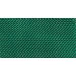 Griffin Silk Thread Green Size 5 0.65mm 2 meter card (21779)