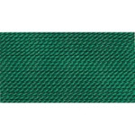 Griffin Silk Thread Green Size 10 0.90mm 2 meter card (21841)