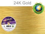 Soft Flex Extreme Beading Wire 24K Gold Heavy/ .024 Dia. 19 Strand 500 foot spool - each (6816)