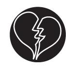 Eurotool Metal Stamp Elite Series Broken Heart PUN-203.20 (25187)