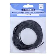 Beadalon Rubber Tubing 1.7MM x 5M (Black)