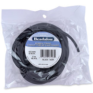Beadalon Rubber Tubing 4.0mm Black 5 meter package (4936)