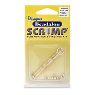 SCRIMP FINDING KIT OVAL 3.5MM GOLD PLATED