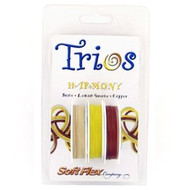 Soft Flex Trios Beading Wire Harmony Medium/ .019 dia. Bone/ Lemon Yellow/ Copper 3x10 foot pack - each (6908)