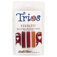 Soft Flex Trios Beading Wire Vitality Medium/ .019 dia. Imperial Topaz/ Red Jasper/ Citrine 3x10 foot pack - each (6918)