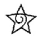 Eurotool Metal Stamp Star with Swirl PUN-109.04