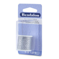 Poly Sparkle Thread 1mm Silver 15m (38246)