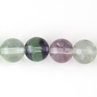 Rainbow Fluorite 12mm Round Bead - by the strand (41218)