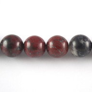 Brecciated Jasper 12mm Round Bead - by the strand
