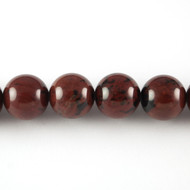 Mahogany Obsidian 4mm Round Bead - by the strand (24464)