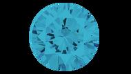 Cubic Zirconia Aqua Round Brilliant Cut 4mm