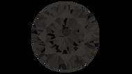 Cubic Zirconia Black Round Brilliant Cut 6mm