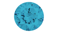Cubic Zirconia Aqua Round Brilliant Cut 6mm