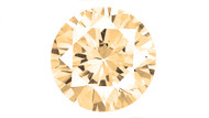 Cubic Zirconia Champagne Round Brilliant Cut 6mm