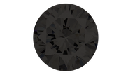 Cubic Zirconia Black Round Brilliant Cut 10mm