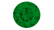 Cubic Zirconia Green Round Brilliant Cut 6mm