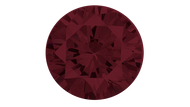 Cubic Zirconia Garnet Round Brilliant Cut 6mm