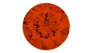 Cubic Zirconia Orange Round Brilliant Cut 6mm