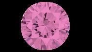 Cubic Zirconia Pink Round Brilliant Cut 6mm