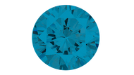 Cubic Zirconia Swiss Blue Round Brilliant Cut 6mm