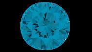 Cubic Zirconia Swiss Blue Round Brilliant Cut 4mm