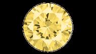 Cubic Zirconia Yellow Round Brilliant Cut 4mm