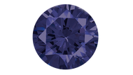 Cubic Zirconia Tanzanite Round Brilliant Cut 8mm