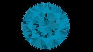 Cubic Zirconia Swiss Blue Round Brilliant Cut 8mm