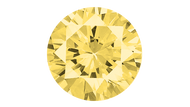 Cubic Zirconia Yellow Round Brilliant Cut 8mm
